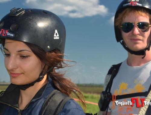Kiss me / Полеты на параплане с лебедки в Тольятти