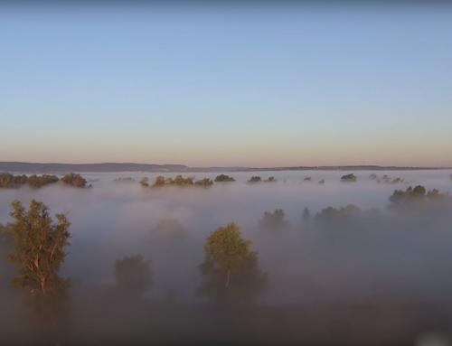 Мой рай… Пролетая над рекой Сок, туман, рассвет.